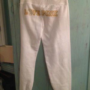 PINK Victoria's Secret Pants - VICTORIAS SECRET MY FAVORITE SWEATS PEACE CRYSTAL